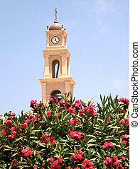 ピーター, 鐘, st. 。, 教会, タワー, 花