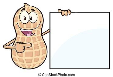 ピーナッツ, 提示, 空白のサイン