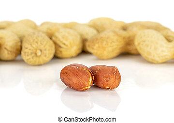 ピーナッツ, 白, 自然, 隔離された, 黄色