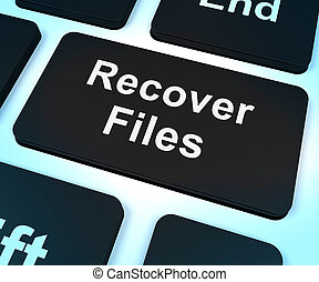 ファイル, キー, 回復しなさい, バックアップ, 回復, ショー
