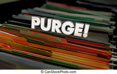 ファイル, フォルダー, 文書, 古い, イラスト, purge, きれいにしなさい, から, 投球, 3d