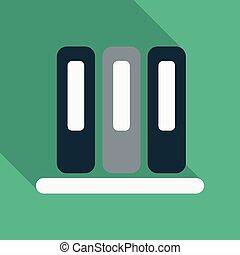 ファイル, 平ら, スタイル, illustration., ビジネス, 情報, 色, 3, フライヤ, 箱, 曲がり, ブランク, フォルダー, 含みなさい, プレゼンテーション, shadow., カード