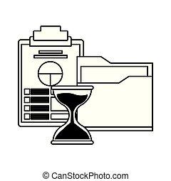 ファイル, 文書, 漫画, 黒, 白, フォルダー, アイコン