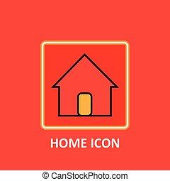 ファイル, icon., アイコン, eps10, フォーマット, 家, これ