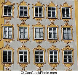 ファサド, の, 建物, 中に, ∥, 歴史的, 中心, の, salzburg., オーストリア