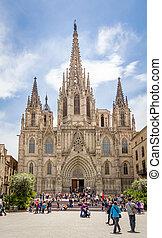 ファサド, ゴシック様式カテドラル, バルセロナ, スペイン