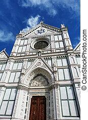 ファサド, フィレンツェ, croce, santa, 教会