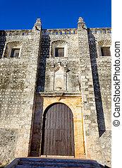 ファサド, 古い, campeche, 教会