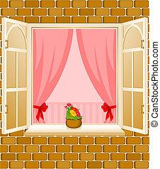 ファサド, 家, 窓