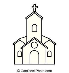 ファサド, 建物, 教会, アイコン