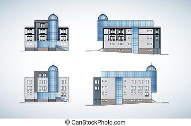 ファサド, 現代建物
