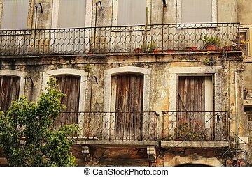 ファサド, 通り, 古い, リスボン