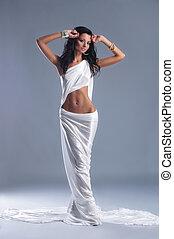 ファッション新芽, の, aphrodite, スタイルを作られる, 若い女性