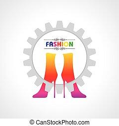 ファッション, イラスト, 背景