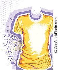 ファッション, グランジ, 人, 要素, デザイン, 背景, t-shirt.vector