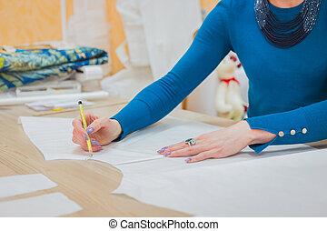 ファッション, 仕事, パターン, コレクション, ファッション, デザイナー, 新しい