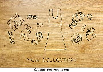 ファッション, &, 付属品, shopping:, 混ぜられた, 服