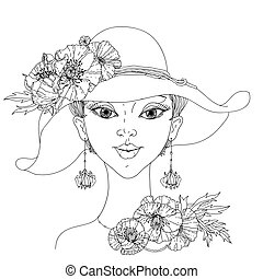 ファッション, 女性, 美しい