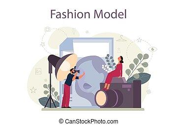 ファッション, 男の女性, 衣服, 新型, concept., 表しなさい