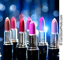 ファッション, 美しさ, カラフルである, 構造, lipsticks., 専門家