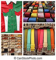 ファッション, centrale, san, ∥ディ∥, コラージュ, おお, -, mercato, イメージ, イタリア語