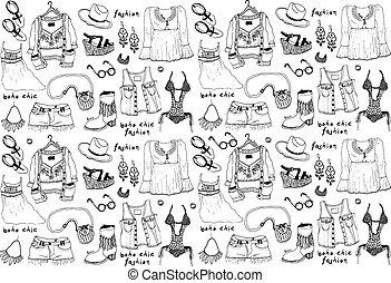 ファッション, illustration.