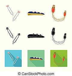 ファッション, illustration., 美しさ, イラスト, ベクトル, コレクション, 女性, icon., 株