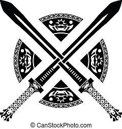 ファンタジー, 二番目に, 変形, swords.