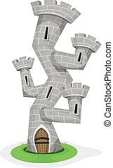 ファンタジー, 城, タワー