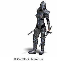 ファンタジー, 女性, 騎士