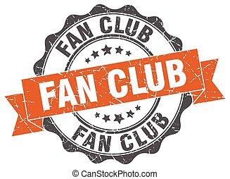 ファン, クラブ, stamp., 印。, シール