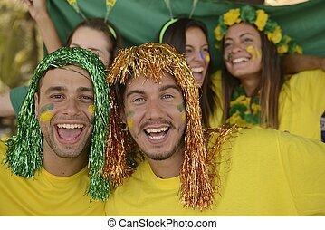 ファン, サッカー, グループ, ブラジル人