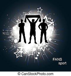 ファン, スポーツ, ポスター