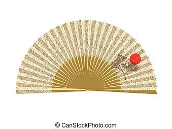 ファン, 開いた, 日本語