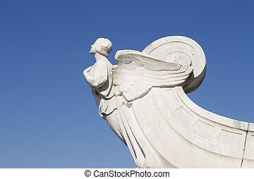 ∥, フィギュアに翼をつけた, の, 民主主義, の前, ユニオン・ステイション, 中に, ワシントン, dc.