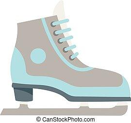 フィギュアスケート, スタイル, 平ら, アイコン, 氷