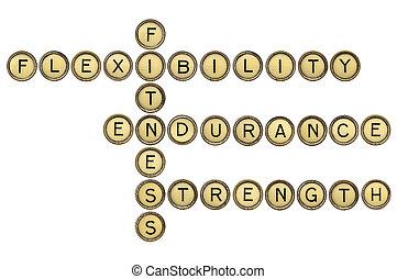 フィットネス, クロスワードパズル