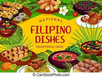 フィリピン人, 食物, 料理, 皿, レストラン