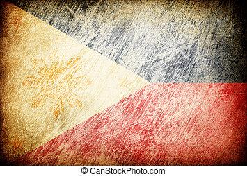 フィリピン。, グランジ, 摩擦される, シリーズ, 旗, backgrounds.