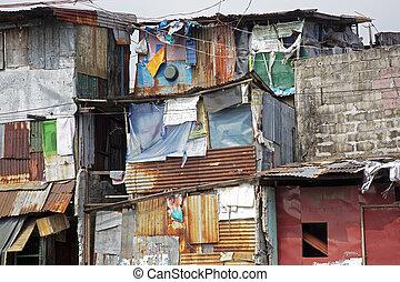 フィリピン, 通り, 窮乏, マニラ