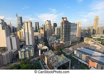フィリピン。, makati, マニラ, 都市 スカイライン