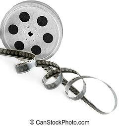 フィルムの ストリップ, 隔離された, 白, バックグラウンド。, レトロ, object.