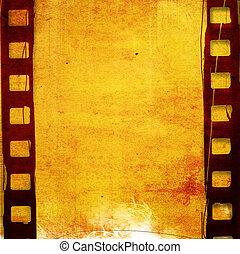フィルム, グランジ, 効果, 背景, ストリップ