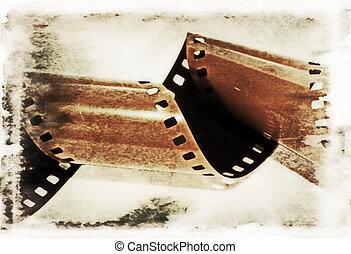 フィルム, 古い, 回転しなさい, 背景