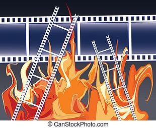 フィルム, 火
