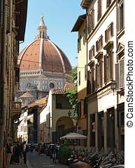 フィレンツェ, -, ∥そうするかもしれない∥, 03:, 光景, の, ∥, duomo, そして, 都市, 上に,...