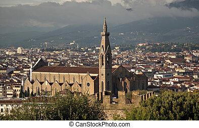 フィレンツェ, バシリカ, croce, イタリア, santa