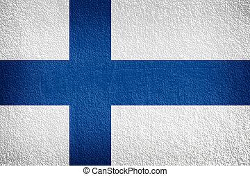 フィンランドの旗, 上に, 手ざわり, 壁