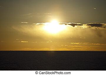 フィンランド, 湾, 日没