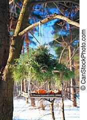 フィーダー, ハンドメイド, 冬, 鳥